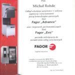 Certyfikat FAGOR dla MR Serwis Bydgoszcz